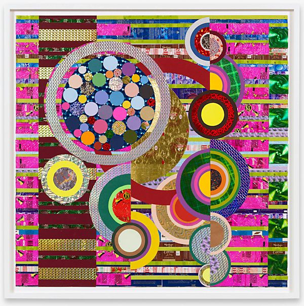 Gorgeous abstract collage by Beatriz Milhazes, seen on EscapeIntoLife.com.