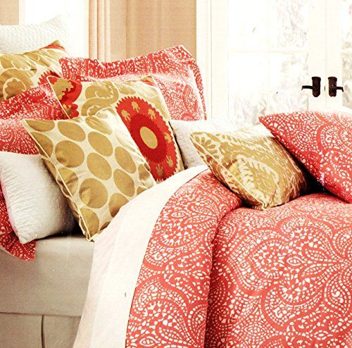 Cynthia Rowley Bedding Duvet Cover Set with Moroccan