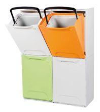 Contenedores apilables de resina Color naranja, blanco o pistacho Cubo interior extraible Medidas: Alto 47cm. Ancho 34cm. Fondo 29cm. Escoger el color en el desplegable ...