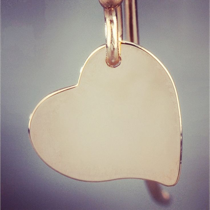 Indulge your romantic side! Wear gold-tone silver 'Heart' earring from Maman Et Sophie featuring a heart drop pendant detail and a top hook fastening.