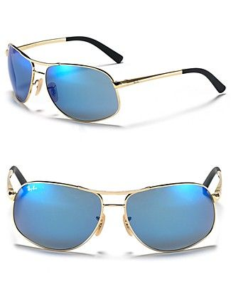 Ray-Ban Morph Aviator Sunglasses - the blue glass actually impacts ones mood