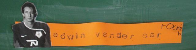 Schrijfhoek: Voetbalnamen stempelen