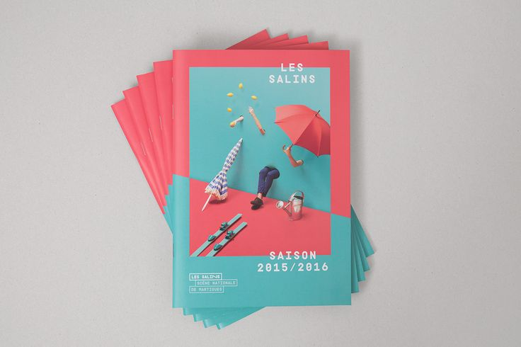 Art direction and graphic design of the posters and programs for the 2015-2016 season of the Salins Theater in Martigues, based on the four seasons theme. Photography : www.samuelguigues.com