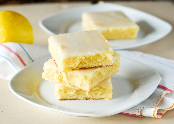 Sticky Gooey Lemon Brownies. My Mom who's crazy about lemon desserts will