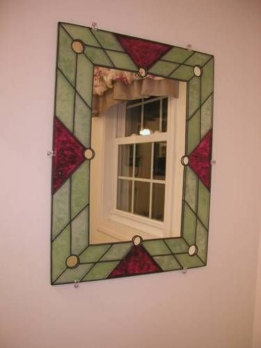 51 best images about stained glass mirrors on pinterest for Glass and mirror craft
