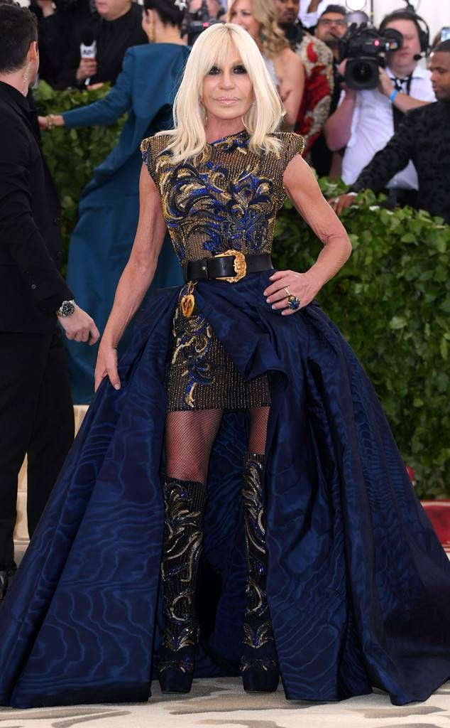 Donatella Versace From 2018 Met Gala Red Carpet Fashion In 2020