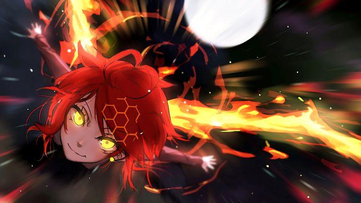 Anime - Pixiv Fantasia T  Short Hair Red Hair Yellow Eyes Girl Anime Wallpaper
