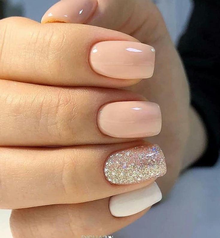 56 schöne natürliche quadratische Nägel Design für kurze Nägel –   – Nails …