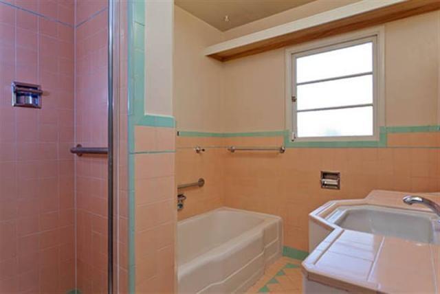 17 best images about old school tile on pinterest for Mauve bathroom ideas