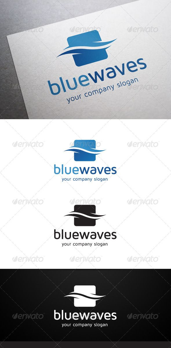 Blue Waves Logo  #GraphicRiver        Description Blue Waves Logo is a multipurpose logo. This logo that can be used by cleaning services, water sports companies, multimedia developers, design agencies, web designers,