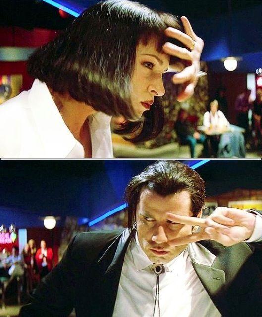 Uma Thurman and John Travolta In Quentin Tarantino's Pulp Fiction (1994)
