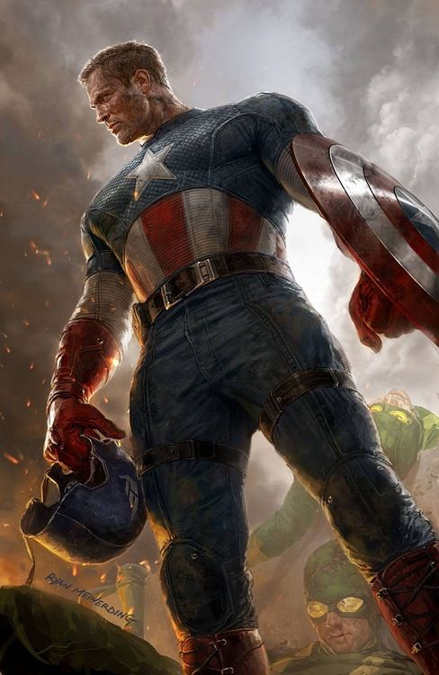 """Captain America // artwork by Ryan Meinerding (2012)  Variant cover for """"Captain America #1"""""""