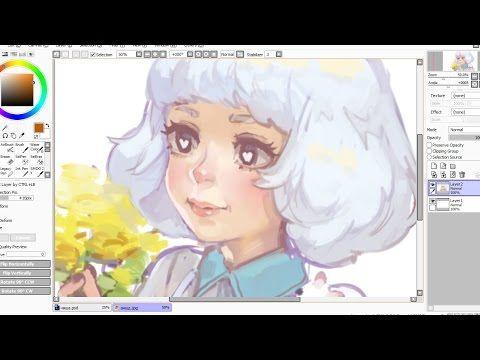 Speedpaint (Paint Tool SAI) Pink Elephant - YouTube