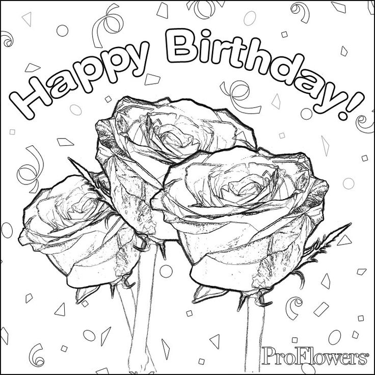 Colouring Pages H Y Birthday : Birthday coloring pages for mom. happy birthday coloring pages for