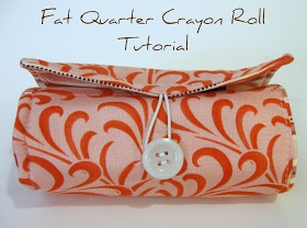 Rosey Corner Creations: Fat Quarter Crayon Roll Tutorial
