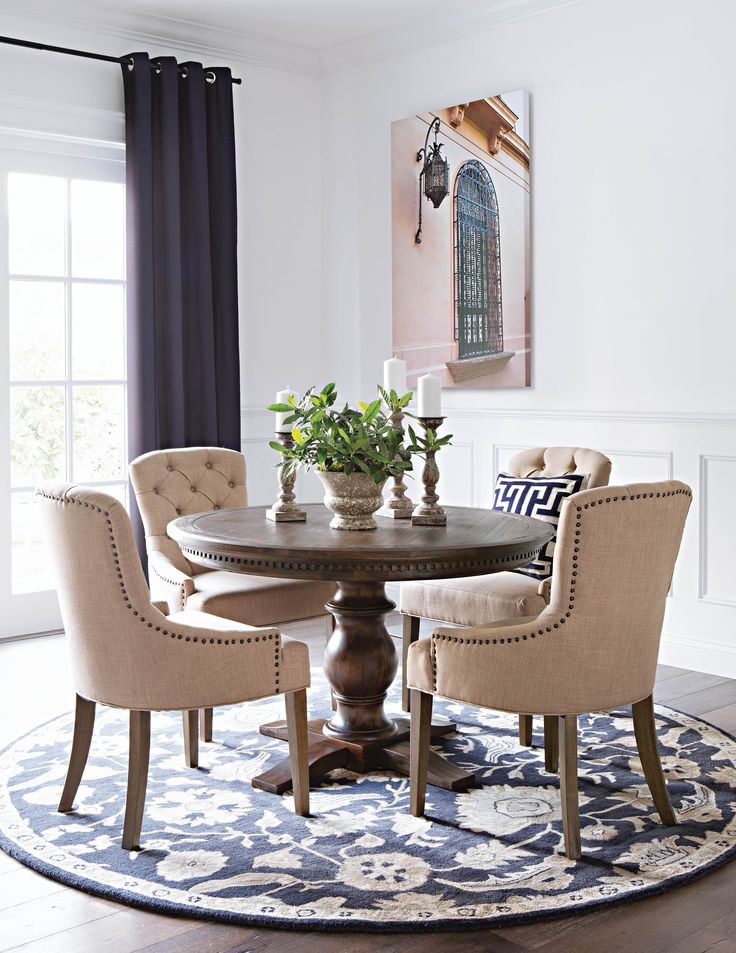 Jefferson 5 Piece Extension Round Dining Set. Living SpacesProduct ... - 89 Best Images About Dining Spaces On Pinterest Dining Sets