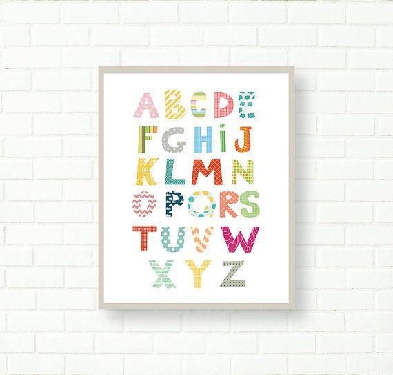 Impressions de pépinière pépinière ABC affiche par LittleMonde