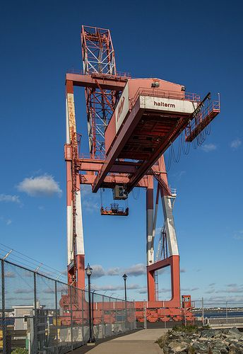 Photo 20131007. A container crane dominates the Port of Halifax.