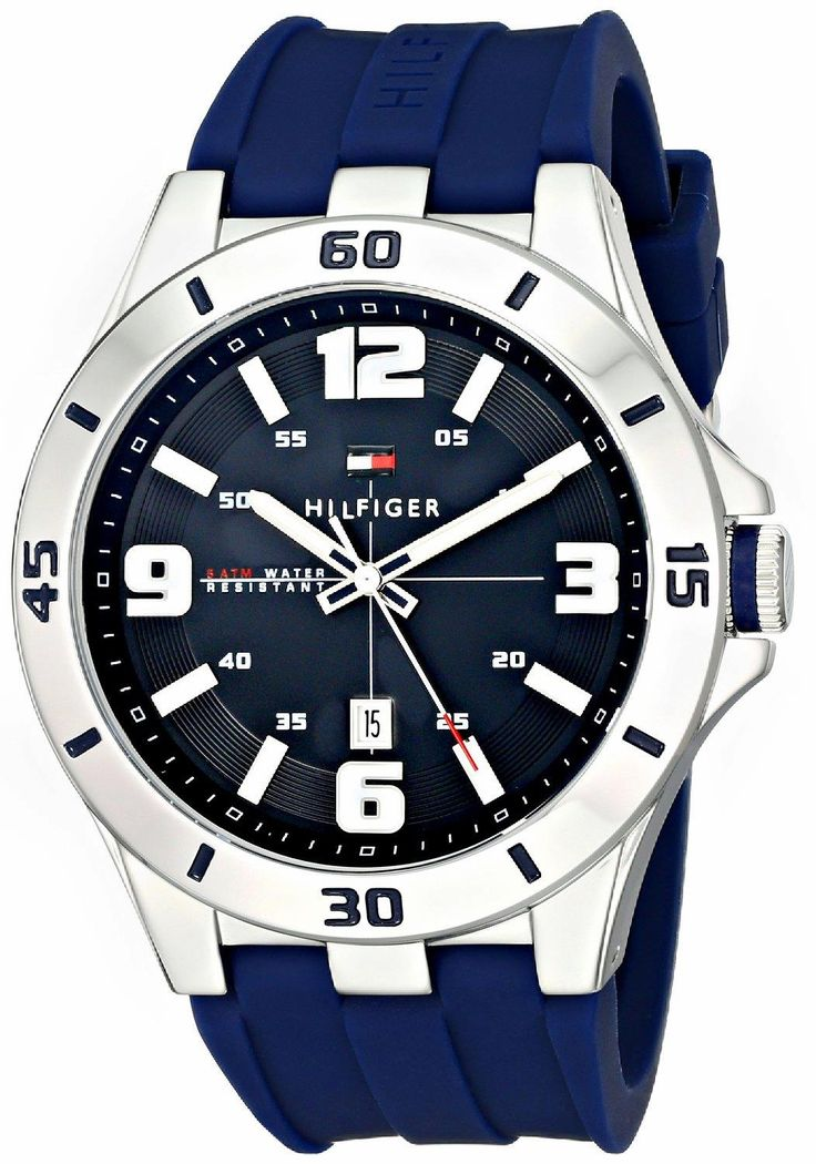 Fashion watch from a great brand. TOMMY HILFIGER 1791062 Stainless Steel Watch with Blue Silicone Band. Great style, great colors, great quality. #TOMMYHILFIGER  #KhaValeri www.pinterest.com/khavaleri/    kha_amz_THFblue0305_v32