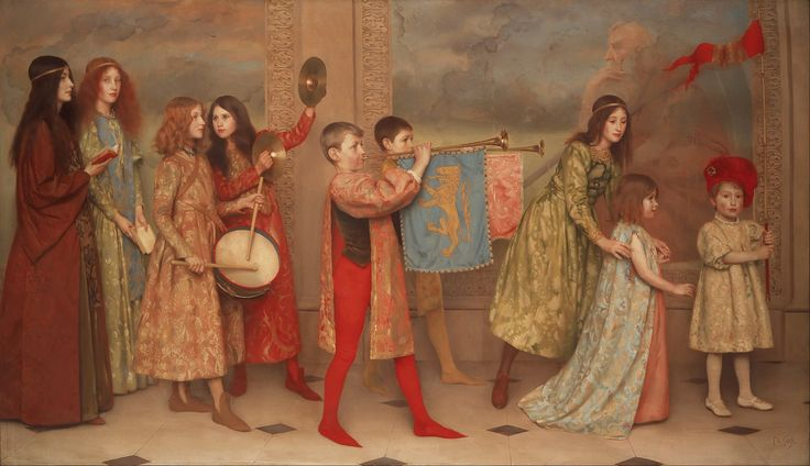 Thomas Cooper Gotch - A Pageant of Childhood