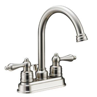 Amazon.com: Designers Impressions 617429 Satin Nickel Two Handle Lavatory Bathroom Vanity Faucet - Bathroom Sink Faucet with Matching Pop-Up...$49