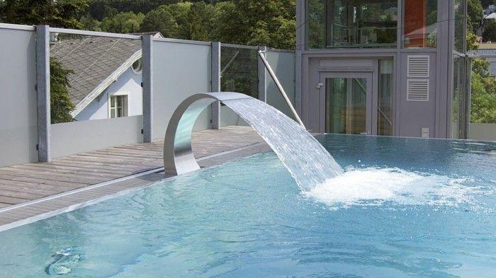 scwalldusche pool ausgefallene idee zum thema schwalldusche pool