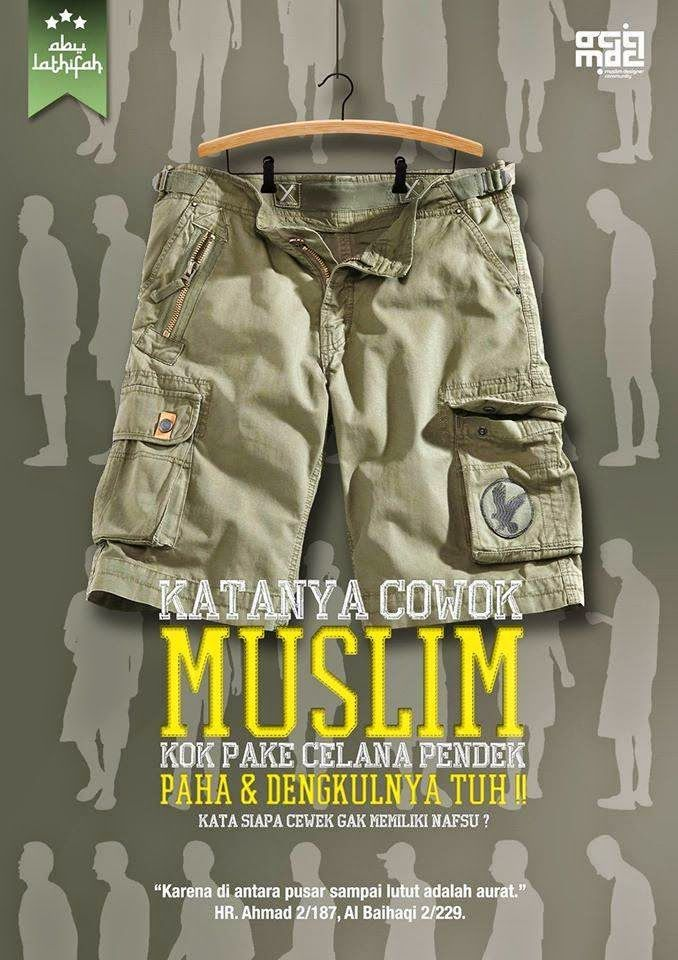muslim ko make celana pendek
