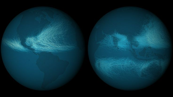 WIRED: 170 Years of the World's Hurricane Tracks on One Dark and Stormy Map