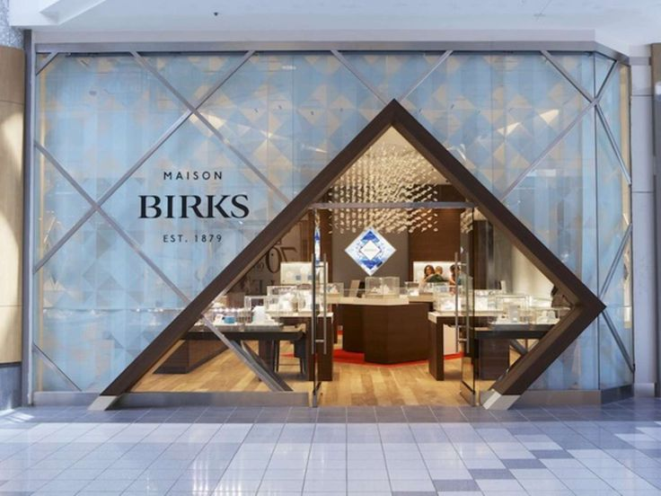 The Birks' store entrance echoes the modern logo re-design and the brand's new visual identity, successfully stopping curious millennials in their tracks. Th...