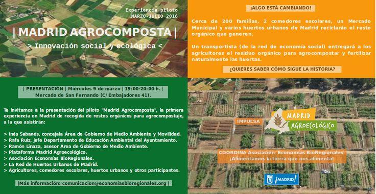Presentación Madrid Agrocomposta   miércoles 9 marzo   Mercado de San Fernando