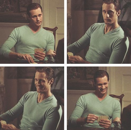true blood - eric northman in his famous blue sweater...my fave