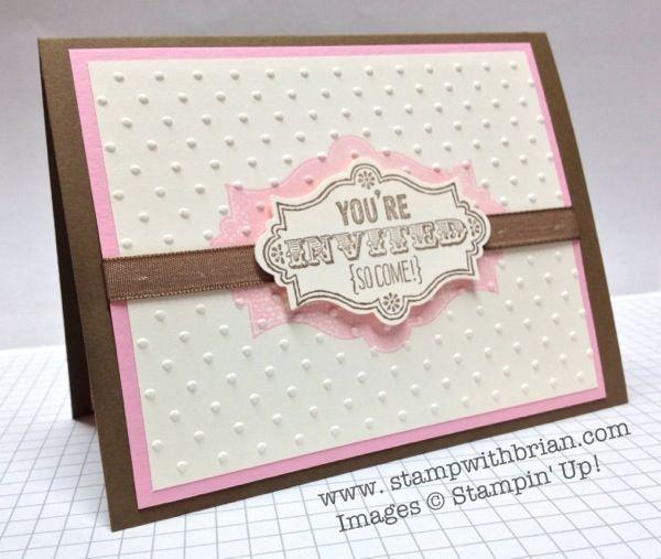 handmade baby shower invitation pink brown