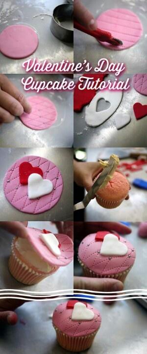Valentine's day cupcake tutorial by Sheryl via Cake Decorating... http://www.mycakedecorating.com.au/blog/2013/01/vallentine%27s-day-cupcake/