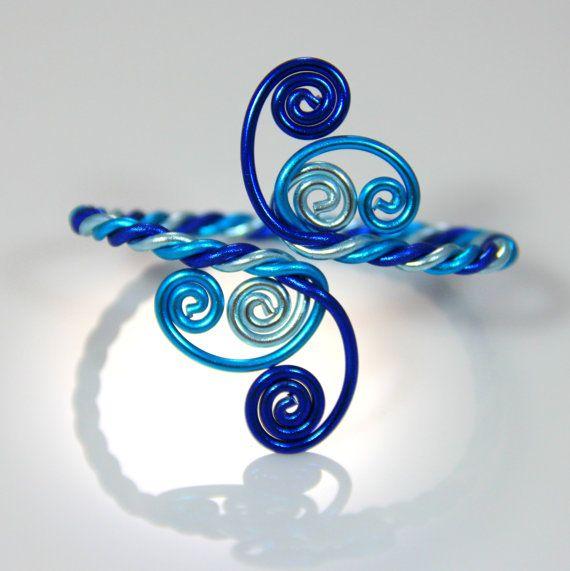 Bracelet torsadé spirales par melissawoods sur Etsy