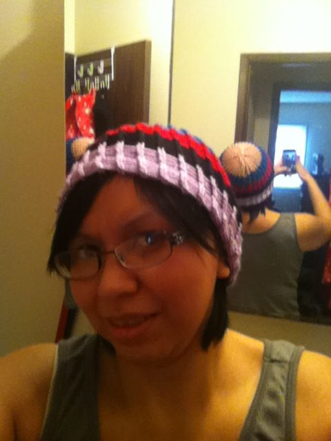 knitting loom.. :) daughter's toque