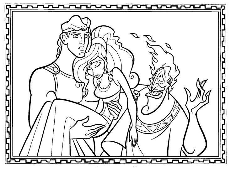 Coloring Inspirations Greek Mythology Pages 77 New: 9 Best Hercules: Disegni Da Colorare Images On Pinterest