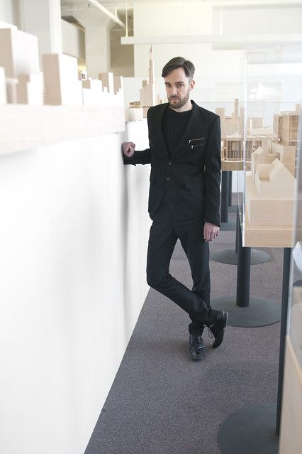 "Simone Ferracina, at Richard Meier & Partners Architects, NY.      ""I often wear black,"" said Mr. Ferrancina, who described his style as ""minimal and understated,"" with a lot of black and gray."""