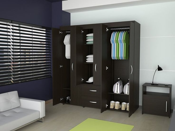 Closet bariloche wengue negro muebles casa pinterest for Dormitorio y closet