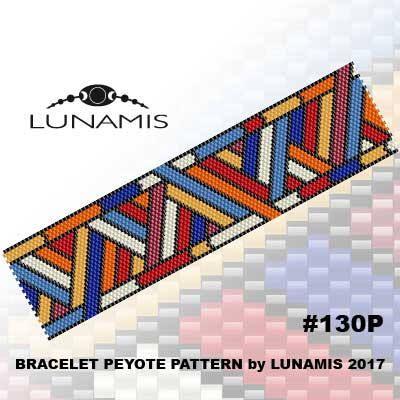 Peyote bracelet pattern, even count, peyote pattern, stitch pattern, pdf file, pdf pattern, #130P by LunamisBeadsPatterns on Etsy