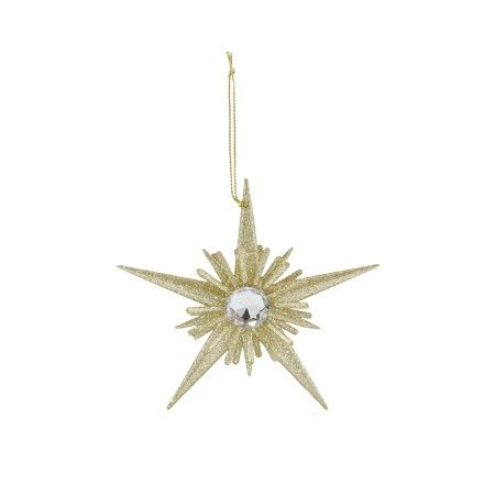 Gisela Graham, Set of 4 Gold Starburst Decorations, Buy Online at LuxDeco
