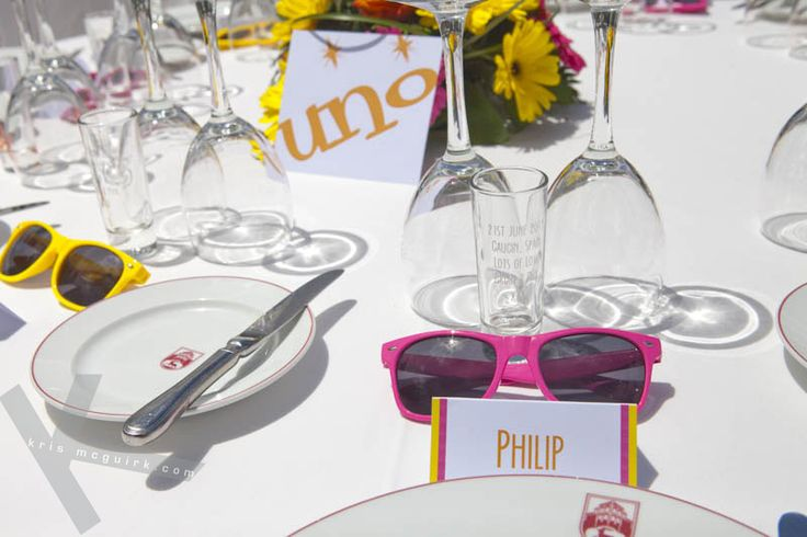 How to look after your guests' eyes on a sunny day. Wedding photography by Kris Mcguirk.