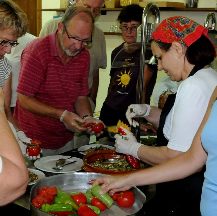 Indoor Activities at Enagron Ecotourism Village in Axos Rethymno Crete: traditional cooking lessons!