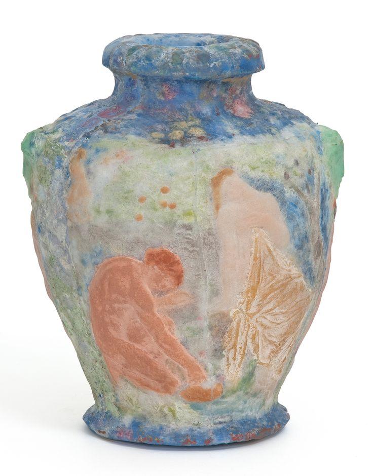 Vase Pastorale Henry Cros 1840 1907 France Vers 1895 1900 P Te De Verre Moul E