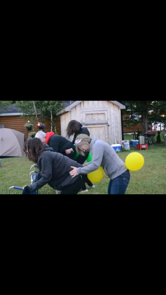 Party Game. Attached balloon to rear of each player Divide into two teams Race…