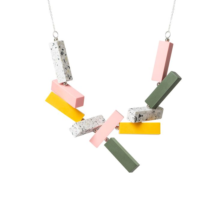 Buy the Connected Blocks Necklace at Oliver Bonas. Enjoy free worldwide standard delivery for orders over £50.