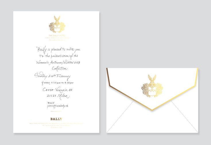 TAMSIN ALLEN / CREATIVE — Bally Invitations