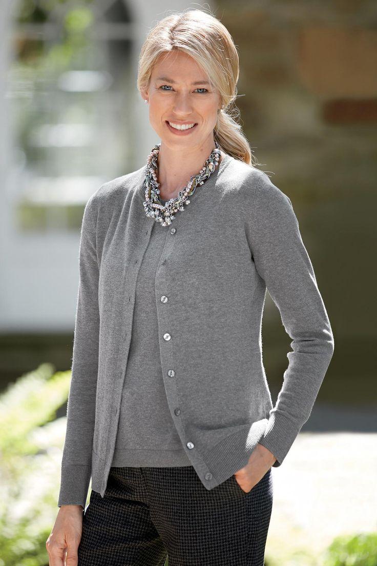 Cardigan Sweater Twin Set: Classic Women's Clothing from #ChadwicksofBoston $49.99 - $54.99