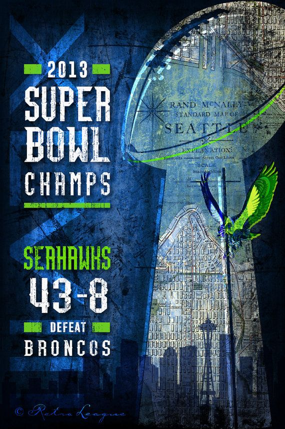 Seattle Seahawks Super Bowl Champs - Perfect Valentines, Birthday, Anniversary Gift - Unframed Print