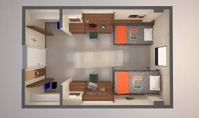 double dorm room layout - Google-søk