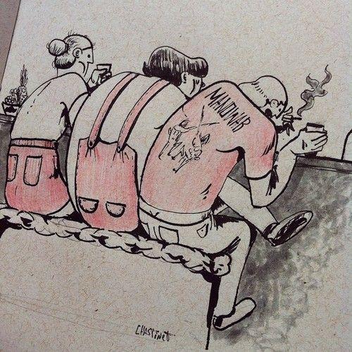 #inktober day23. Smoke, drink and complaining. #illustrator #illustration #drawing #art #character